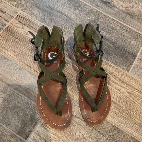 Guess Shoes | Olive Green Sandals